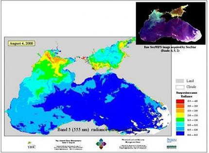Схемы иллюстрируют, что холодная чистая морская вода, которой море омывает евпаторийский берег, по своим оптическим...